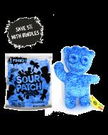 Blue Raspberry Kid Shaped Pillow Candy Bundle