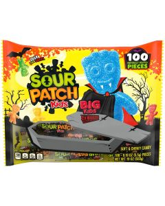 SOUR PATCH KIDS Big Kids Individually Wrapped Soft & Chewy Halloween Candy, 100 Trick or Treat Pieces