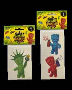 SOUR PATCH KIDS Tattoos - Graffiti & Statue of Liberty (set of 2)