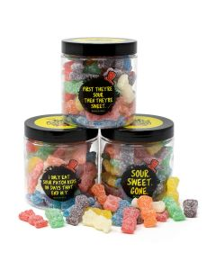 SOUR PATCH KIDS Candy Jars (set of 3)