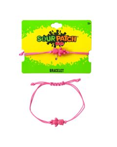 SOUR PATCH KIDS Pink Cord Bracelet
