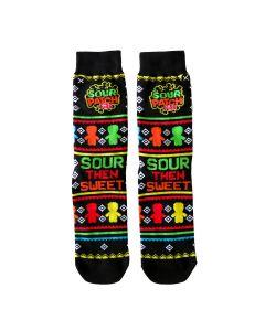 SOUR PATCH KIDS Socks - Seasonal Fairisle Print Black