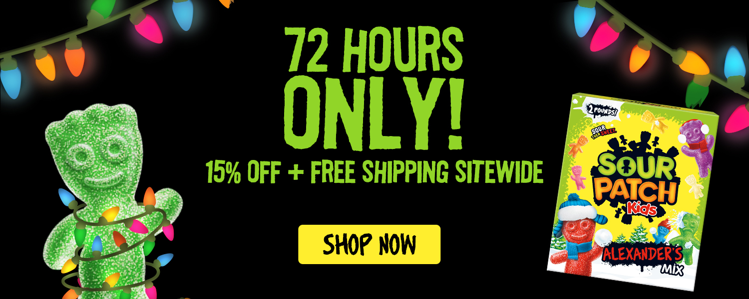Free Shipping + 15% off SOUR PATCH KIDS
