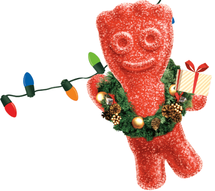 red sour patch kid decorated